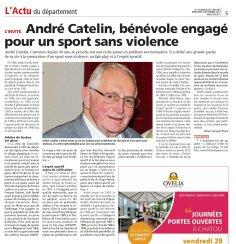 André Catelin invité dans le Courrier des Yvelines du 6 septembre 2017